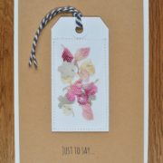 just to say greetings card