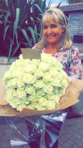 100 White Roses - August blog