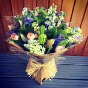 Delphinium Flower Bouquet - Mother's Day 2 Hand Tied Bouquet