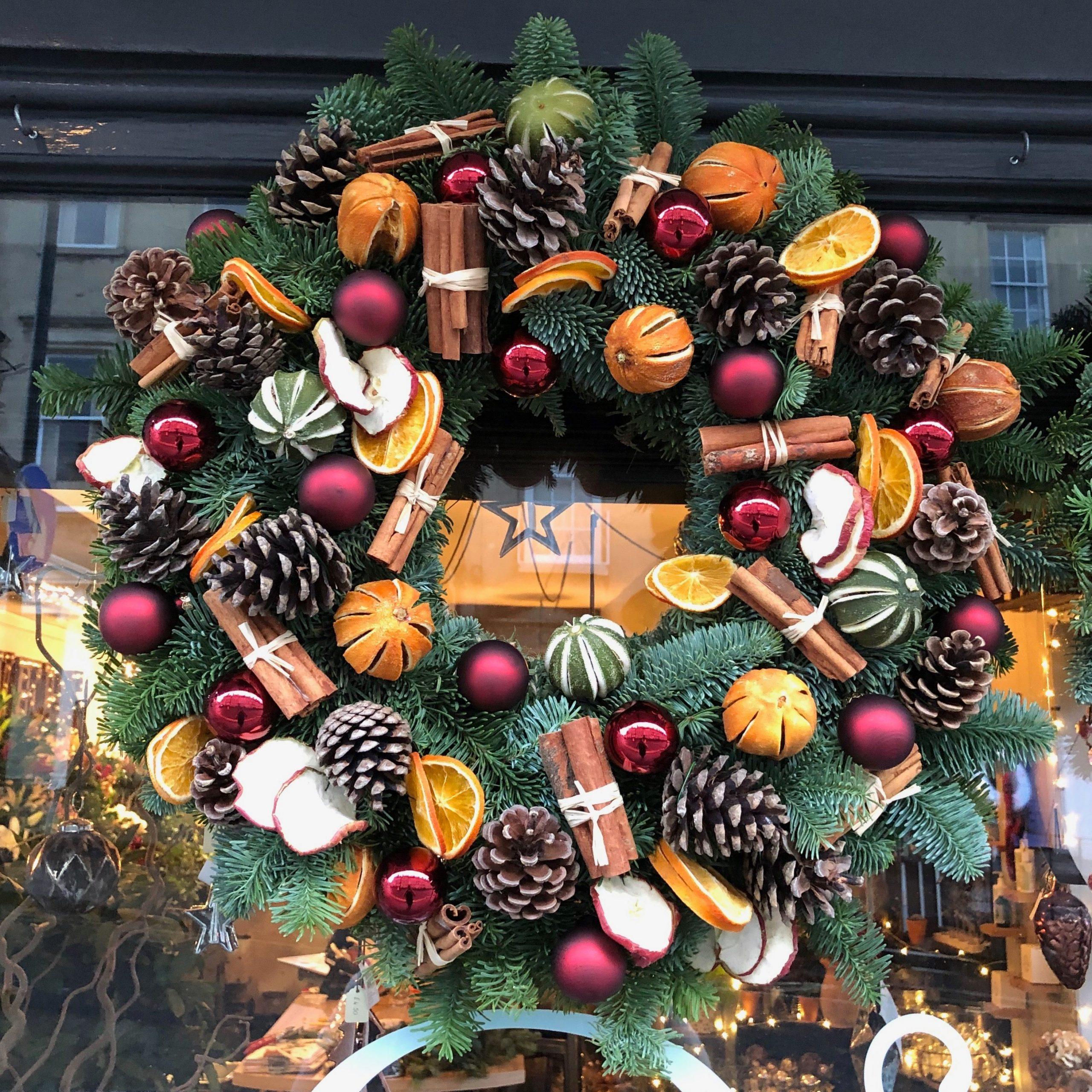 Christmas Wreath.Traditional Christmas Wreath