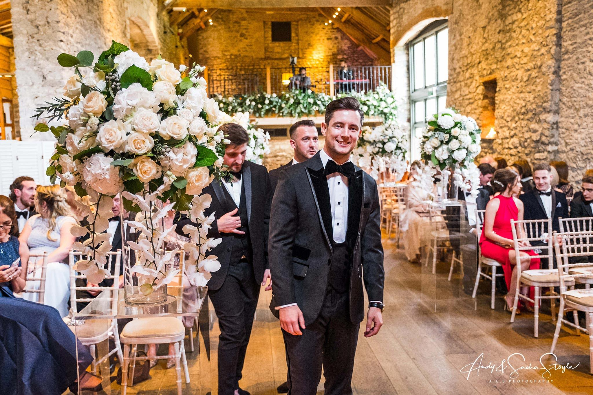 Wedding Flowers - Flowers of Bath - Tythe Barn - Priston Mill - ALS Photography
