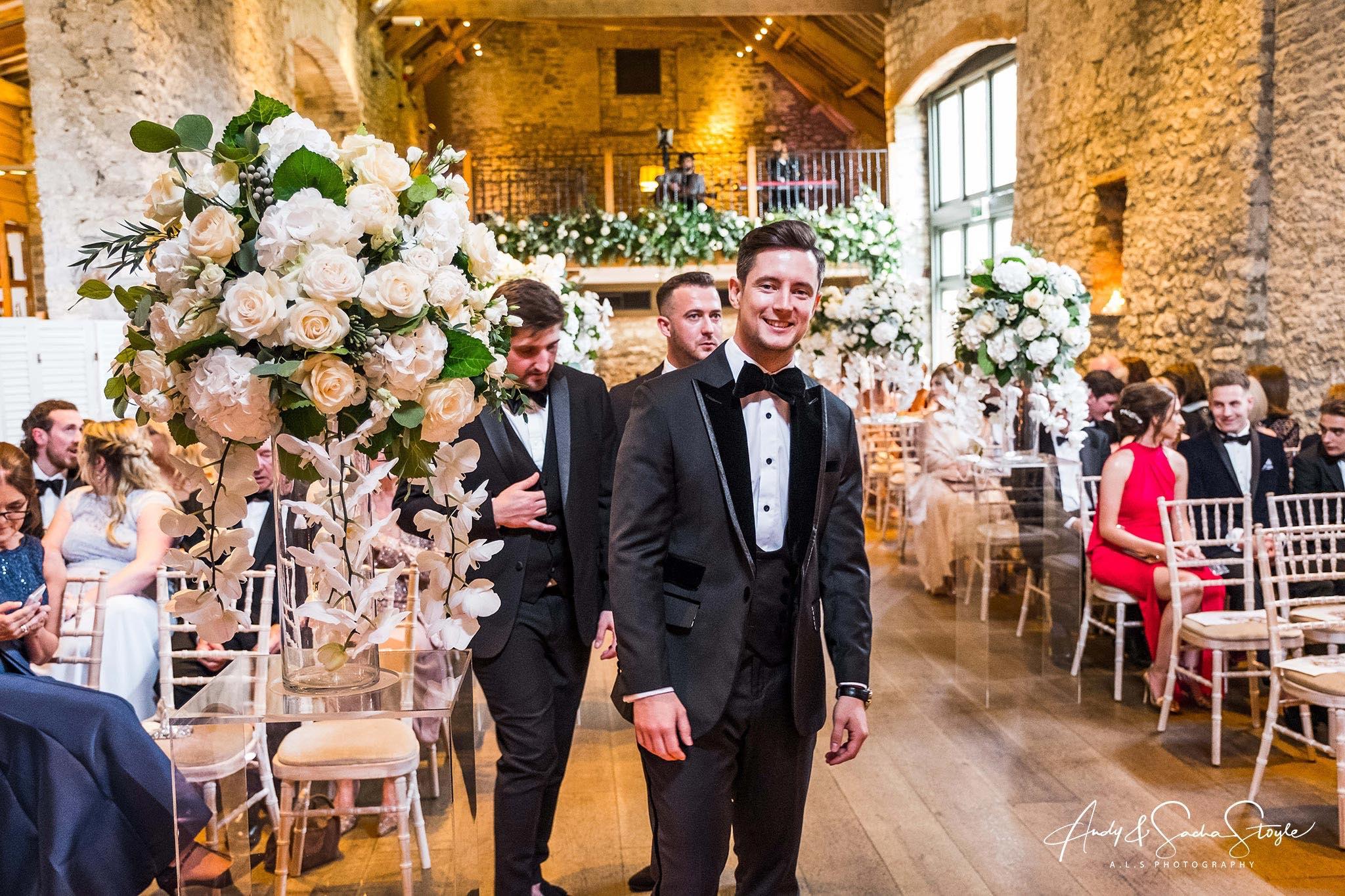 Wedding Flowers - Flowers of Bath - Tythe Barn - Priston Mill - ALS Photography