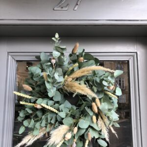 Dried Wreath and Eucalyptus