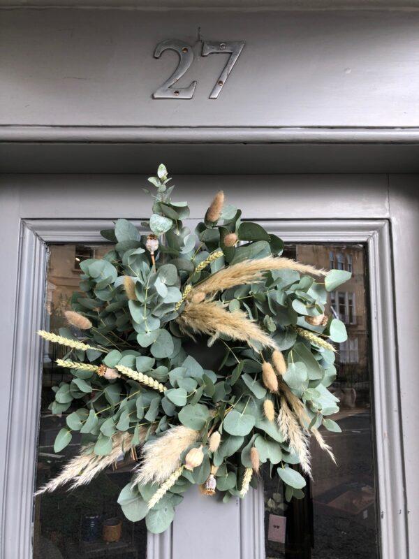 Dried Wreath and Eucalyptus