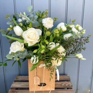 eco-friendly flower arrangement